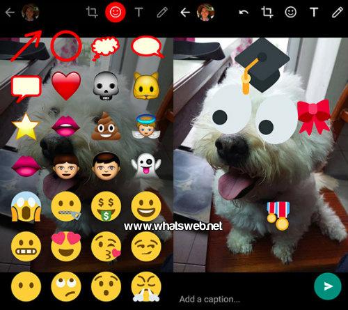 Como agregar los stickers en las fotos de WhatsApp