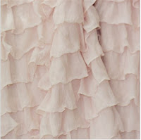 Blush Pink Ruffle Shower Curtain