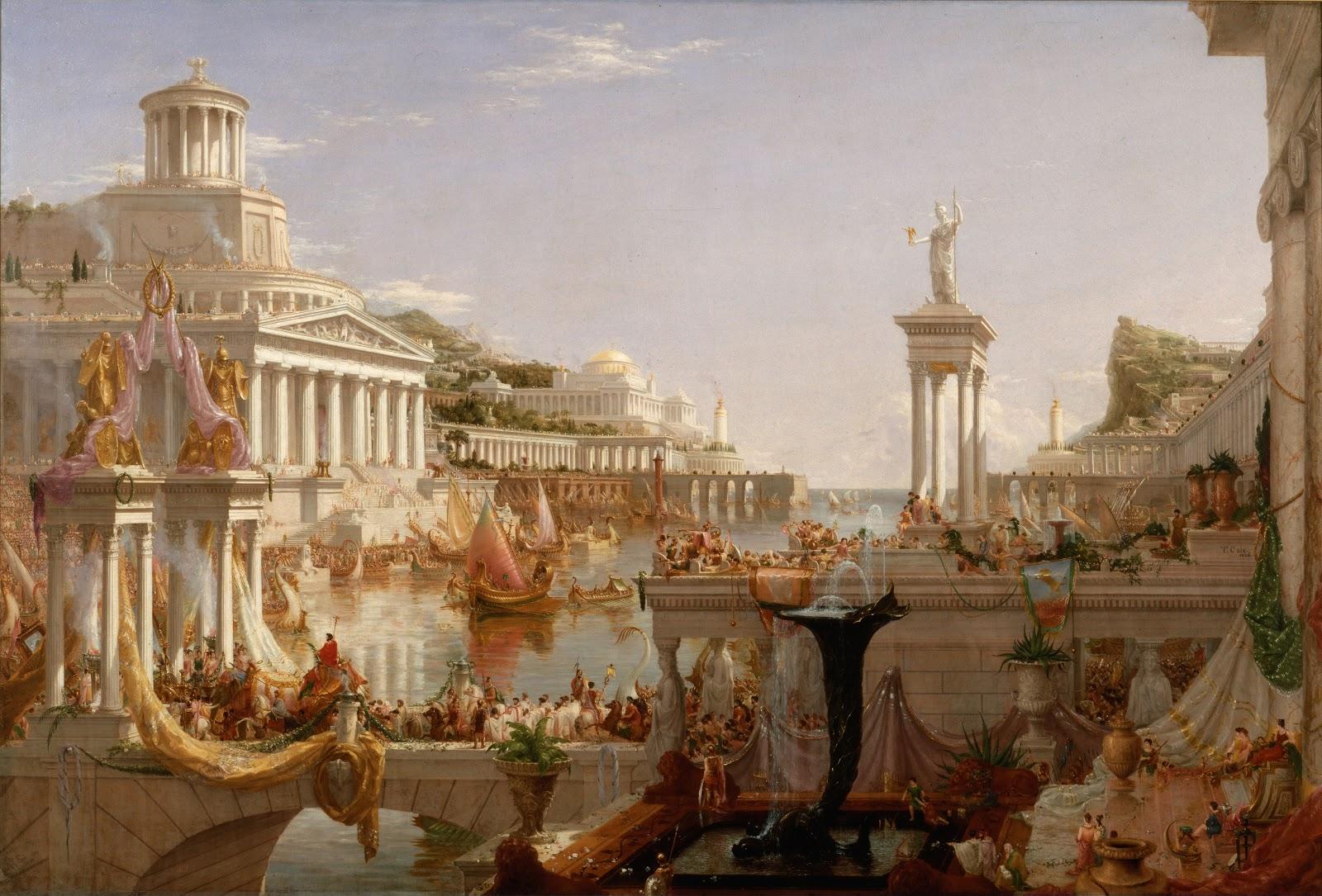 Thomas Cole The Course of Empire Consummation  E   New York Historical Society