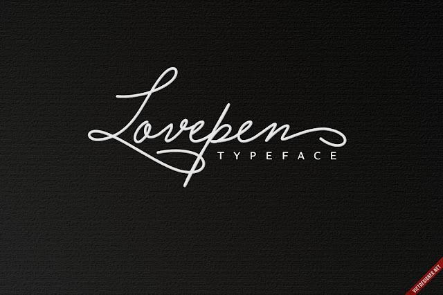 Font chữ Việt hóa Lovepen Typeface cực đẹp
