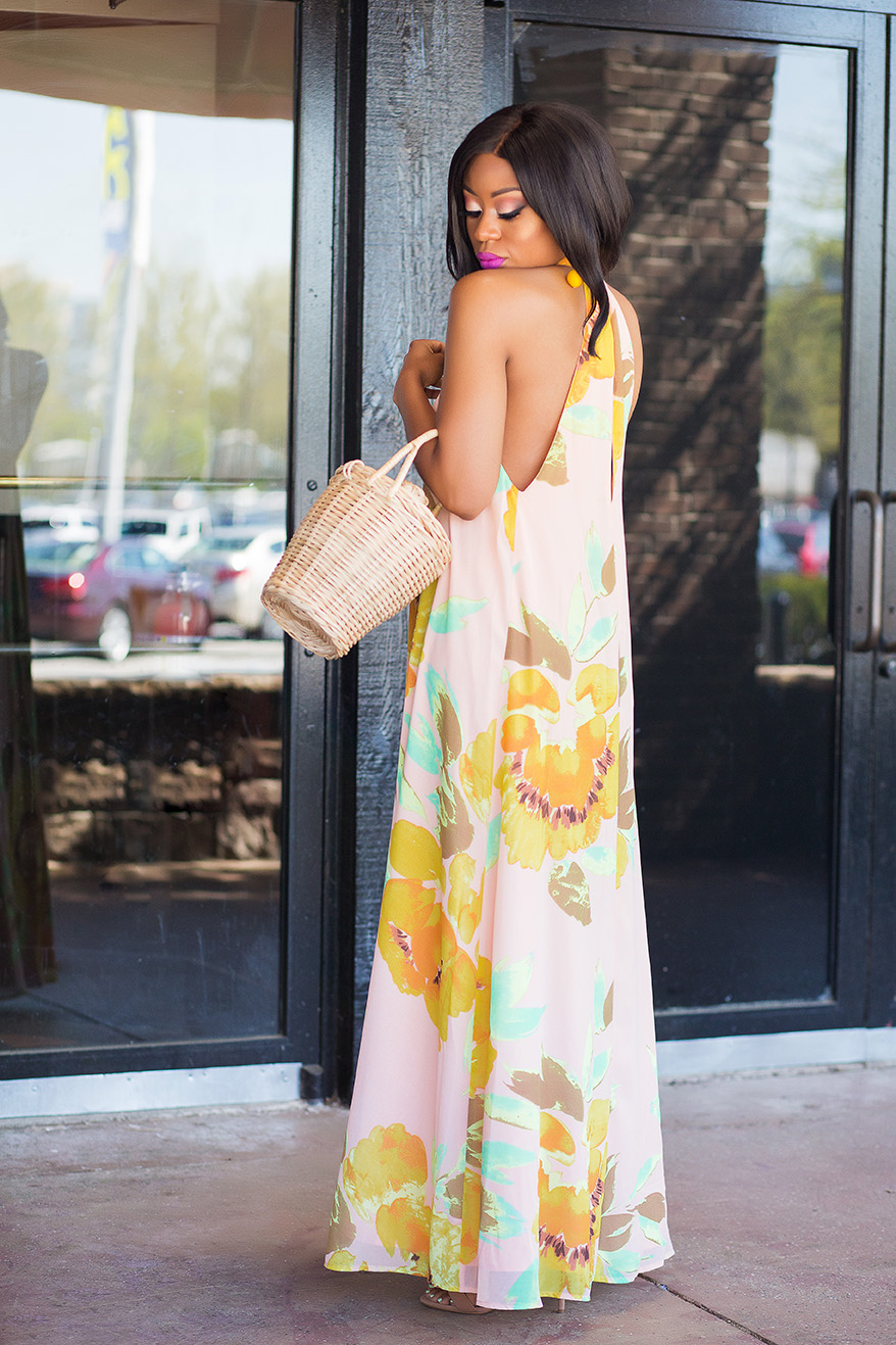 Wedding guest, summer wedding, floral maxi dress, www.jadore-fashion.com