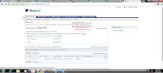 Here is the picture of a Paypal add/edit bank account option