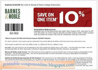 Free Printable Barnes & Noble Coupons