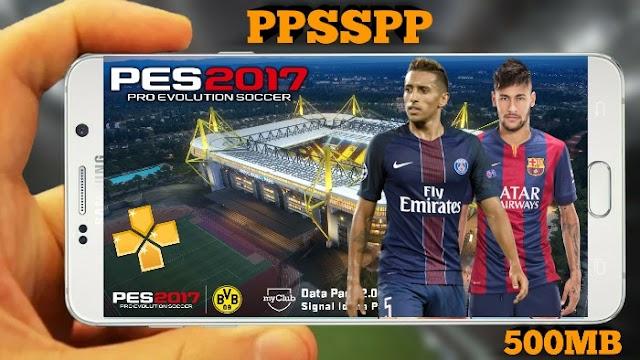 PES 2017 COM FACES SUPER REALISTAS E TIMES ATUALIZADOS 500 MB PPSSPP/ANDROID/PSP/PC