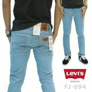celana jeans pria skinny levis biru langit