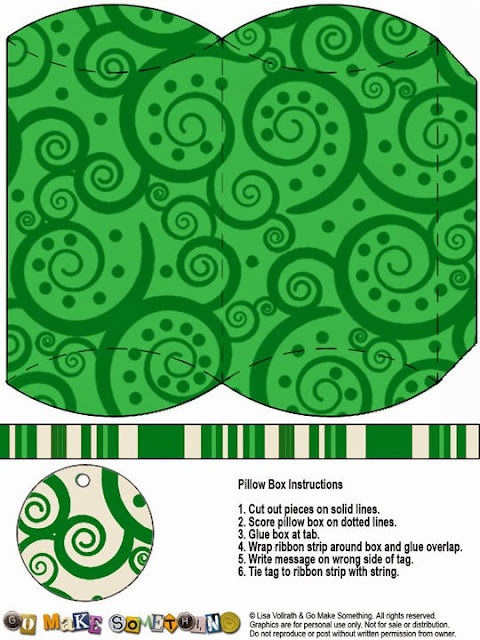 Spirals: Free Printable Pillow Boxes.