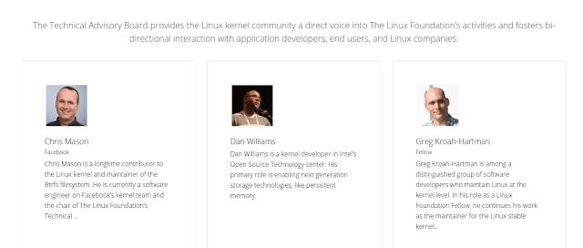 Linux Desenvolvedores principais