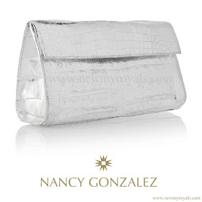 Crown Princess Victoria carried Nancy Gonzalez Silver Metallic Clutch