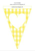 Fahne gelb mit Herz