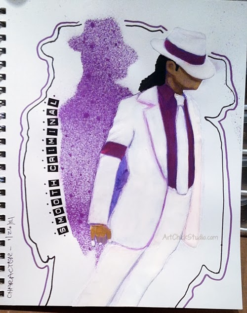Michael Jackson Smooth Criminal Art Journal