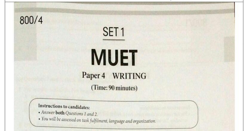 muet essay question This muet essay writing guide will guarantee that you score band 6 for  the  following question has been taken from the muet tuition blog,.