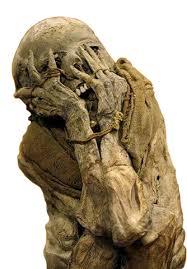 mumi paling menyeramkan di dunia dengan wajah ekspresi ketakutan