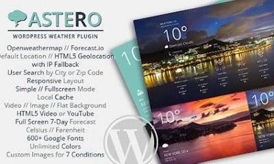 Astero  v1.3.3 Wordpress Weather Plugin Free