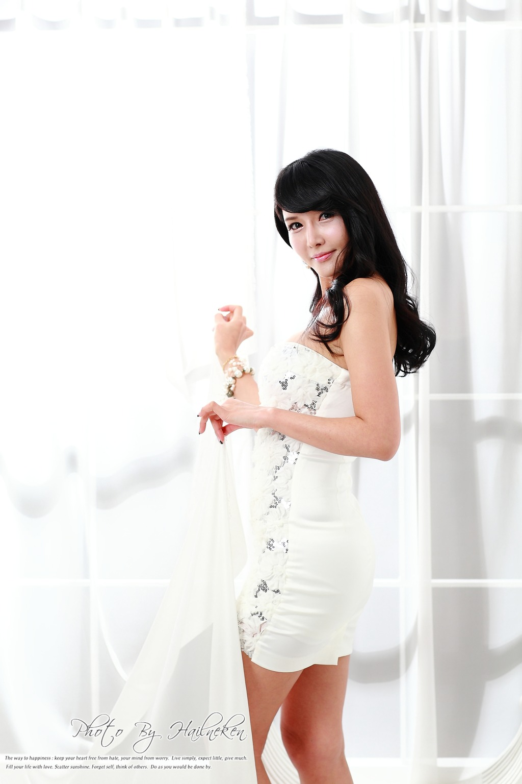 lovely white cha sun hwa lovely in white dress korean models photos gallery 7792