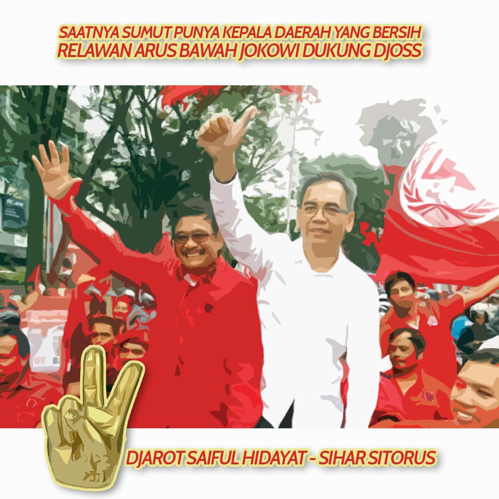 Relawan Arus Bawah Jokowi Dukung Djarot-Sihar di Pilkada Sumut
