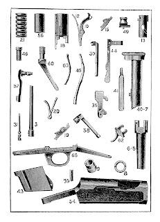 gun illustration antique background digital collage sheet