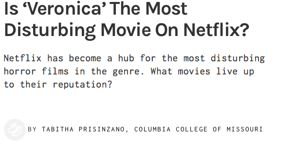 Veronica: the most terrifying movie on Netflix?