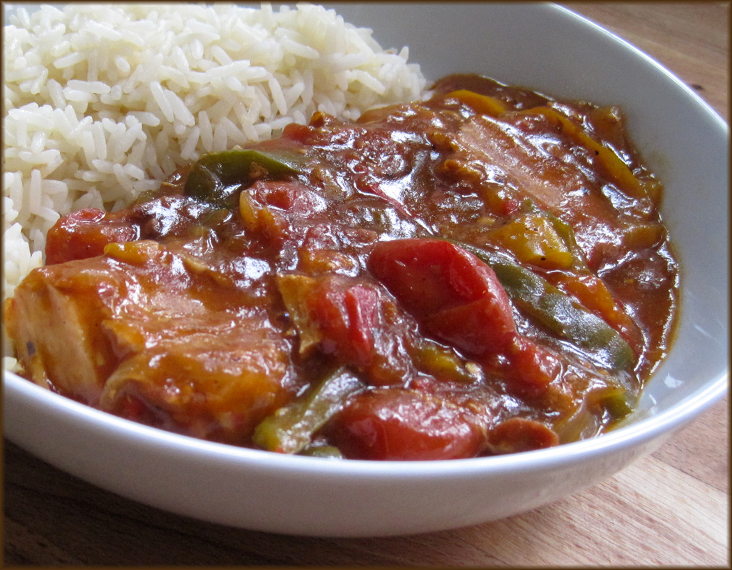 Spicy Pork with Peppers and Tomatoes
