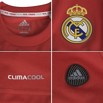 Segunda camiseta del Real Madrid roja Champions 2011-2012 - MENTE NATURAL DE MODA