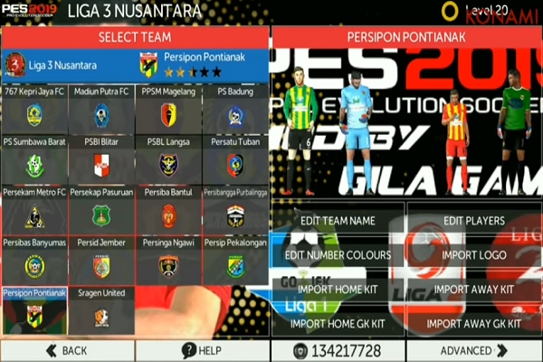 FTS Mod PES 2019 Full Liga Indonesia