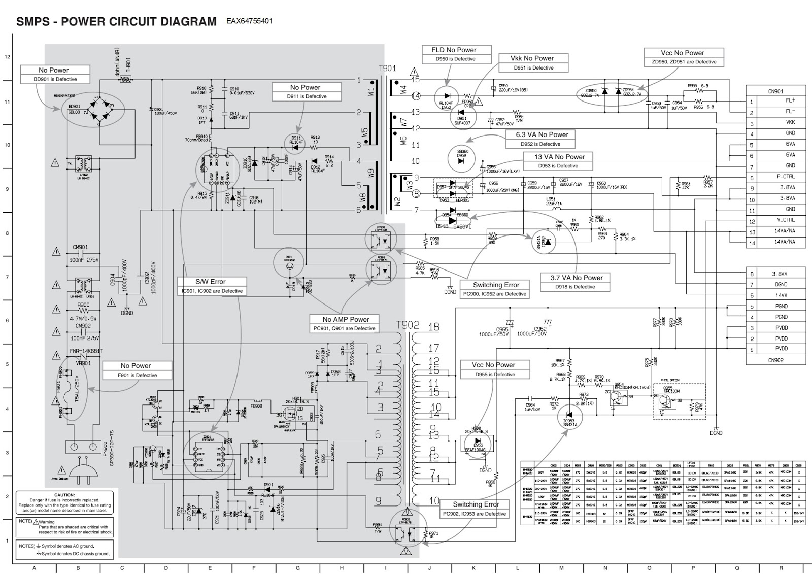 Lg Bh4120sn Smps Schematic Power Board Eax64755401 Troubleshooting Circuit Diagram Click On The Pictures To Magnify
