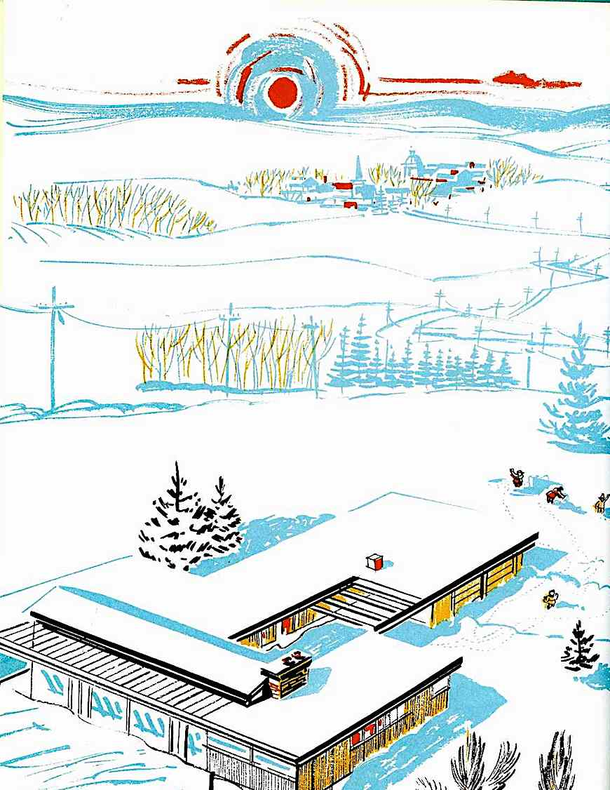 George Overlie 1959 illustration of winter, mumps