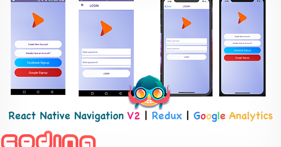React Native Navigation v2 with Redux and Google Analytics