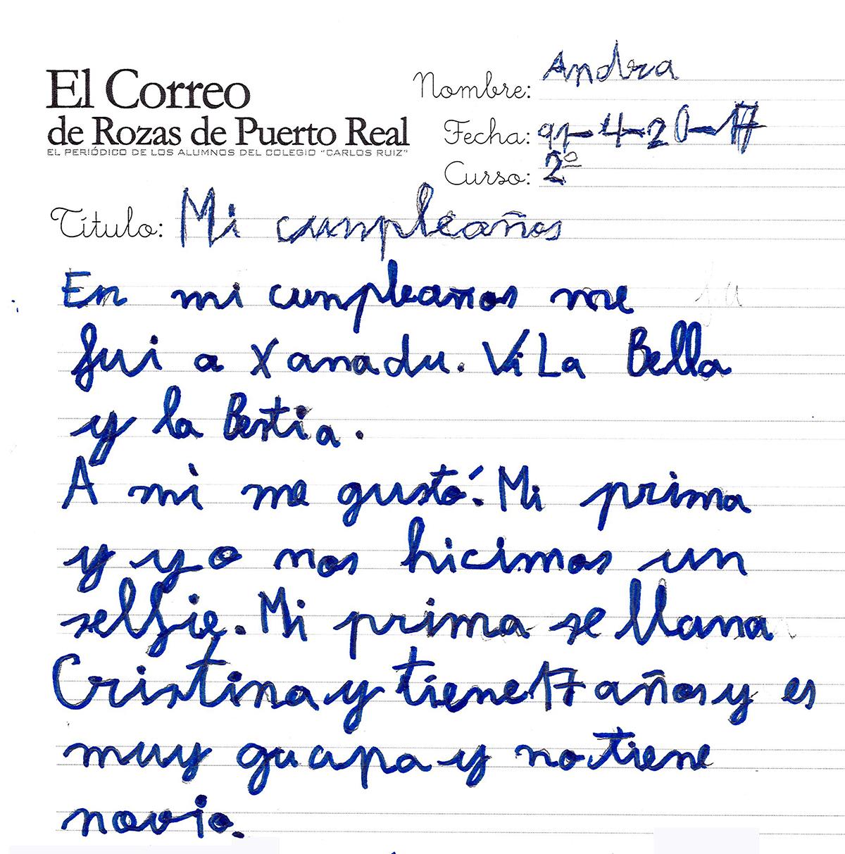El Correo De Rozas De Puerto Real Mi Cumplea Os