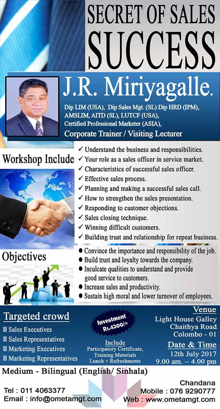Ometa Management   Secret of Sales Success.