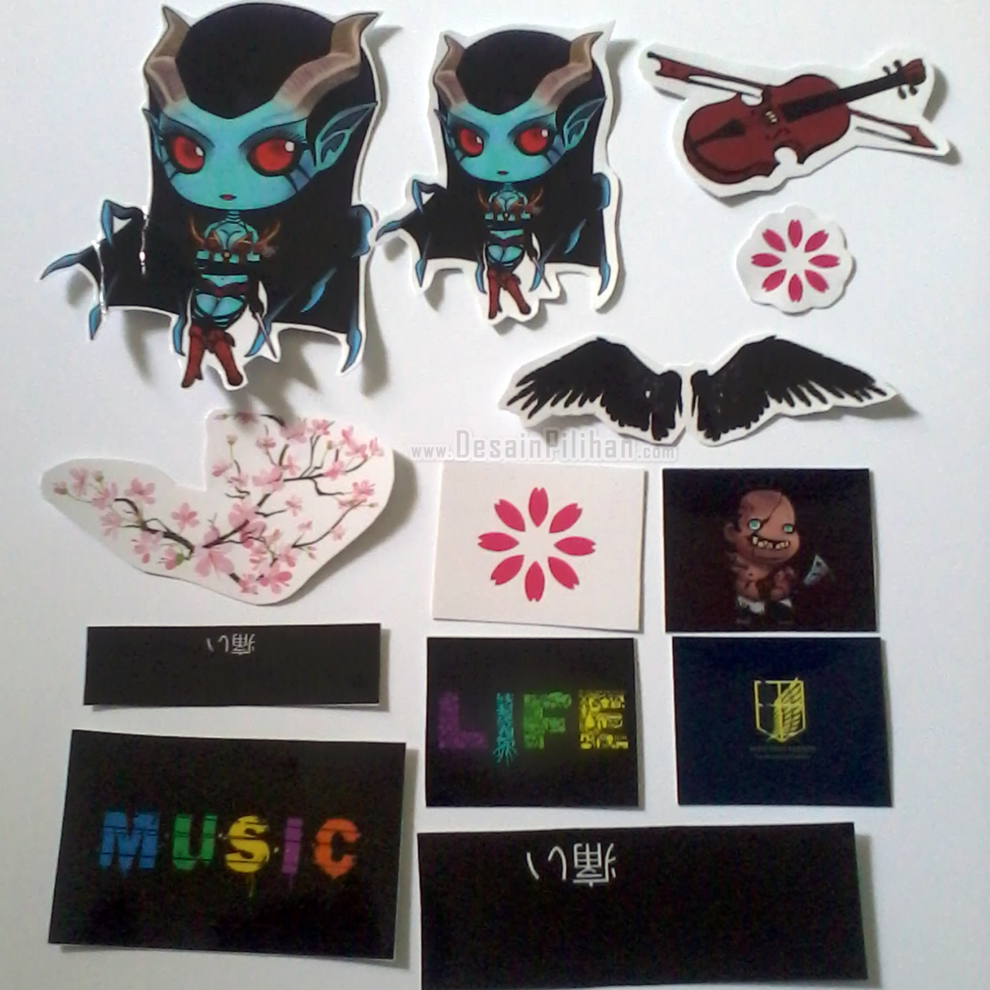 CUTTING STICKER TRANSPARAN CUSTOM, CUTTING STICKER MIX PICTURE, STICKER MUSIC, STICKER LIFE