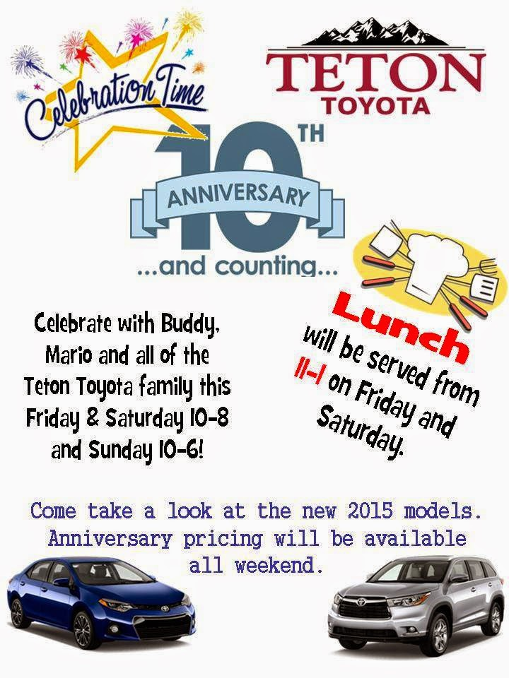 bizmojo idaho teton toyota celebrating 10th anniversary this weekend bizmojo idaho teton toyota celebrating 10th anniversary this weekend