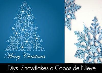 Como hacer Copos de Nieve Snowflakes