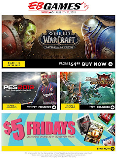 EB Games Weekly Flyer and Circulaire August 17 - 23, 2018