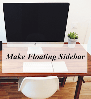 How To Make Scrolling Sidebar With Simple Steps