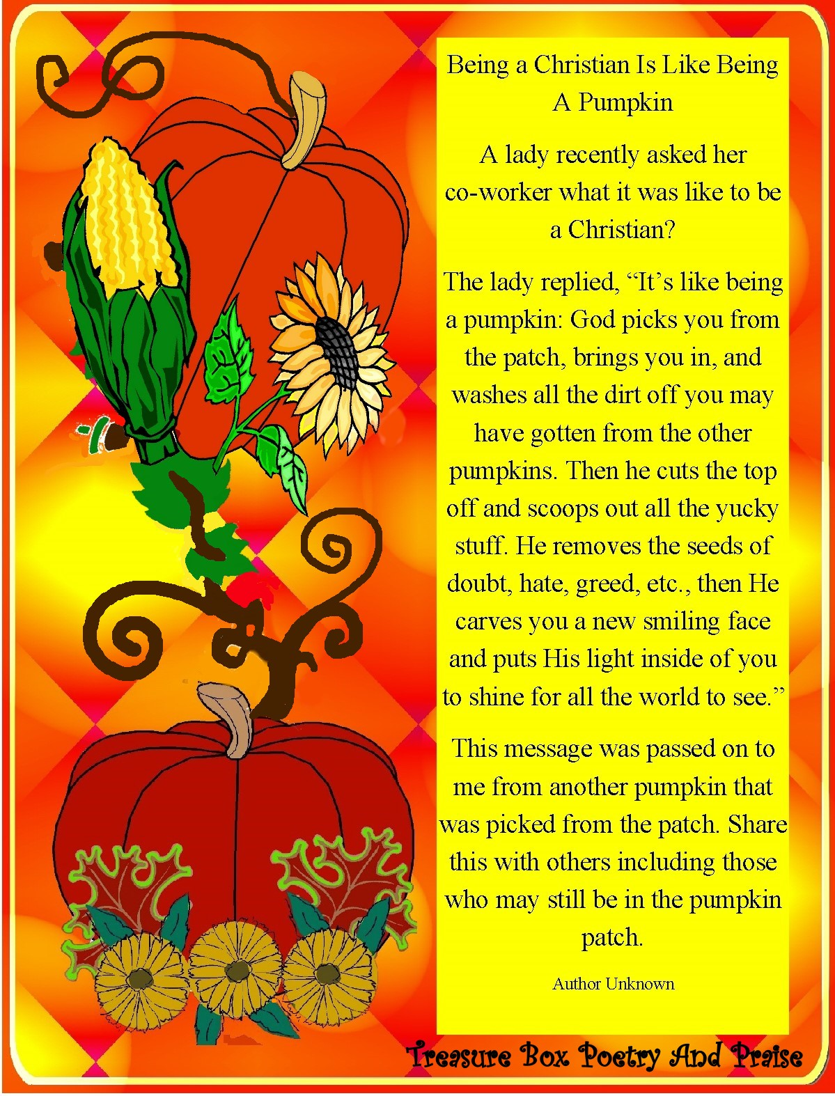 harvest blessing in my treasure box being a christian is Pumpkin Sprout Clip Art pumpkin seeds clipart black and white