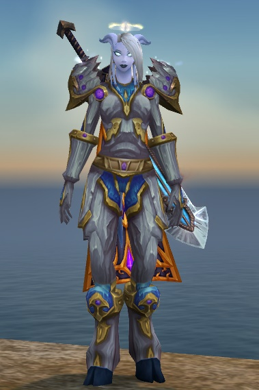 For my first transmog post I wanted to share one of my favorite plate sets the Reinforced Sapphirium Set. This look has gotten me a lot of whispers from ... & WoW Transmog: Reinforced Sapphirium Set with Weapon Cloak and Tabard