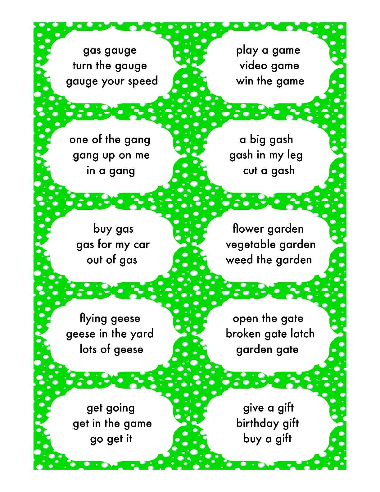 2 Gals Talk About Speech Therapy New Items In My Tpt Store Articulation Phrase Cards