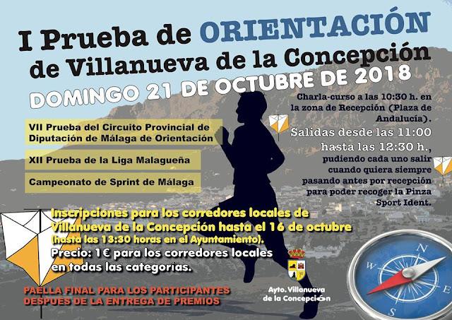 I Prueba de Orientación de Villanueva de la Concepción