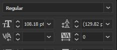 captura de pantalla de kerning vs tracking en InDesign