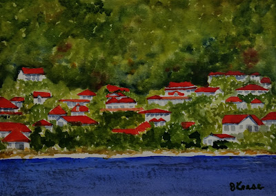 Seaside Town on a Hillside - John Keese
