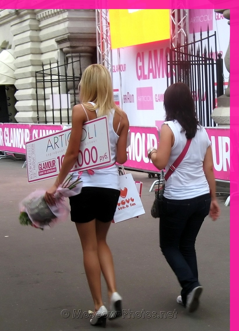 The Winners Of Glamour Stiletto Run 2008  In Moscow