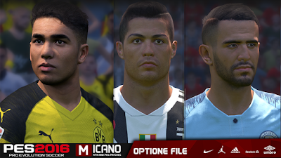 PES 2016 Next Season Patch 2019 Option File 11/07/2018 Season 2018/2019
