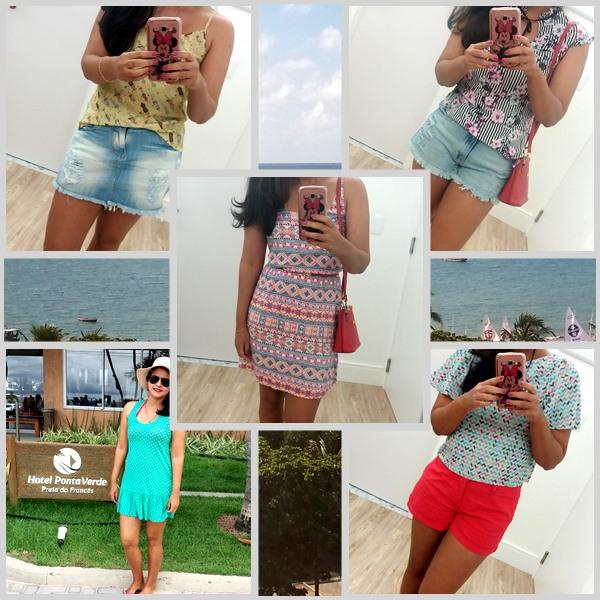 Meus looks do verão: vestido; shorts; saia; blusas;