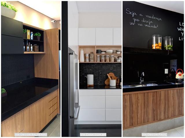 como usar preto na cozinha