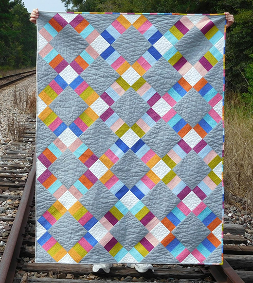 Jelly Roll Railway Quilt Free Pattern