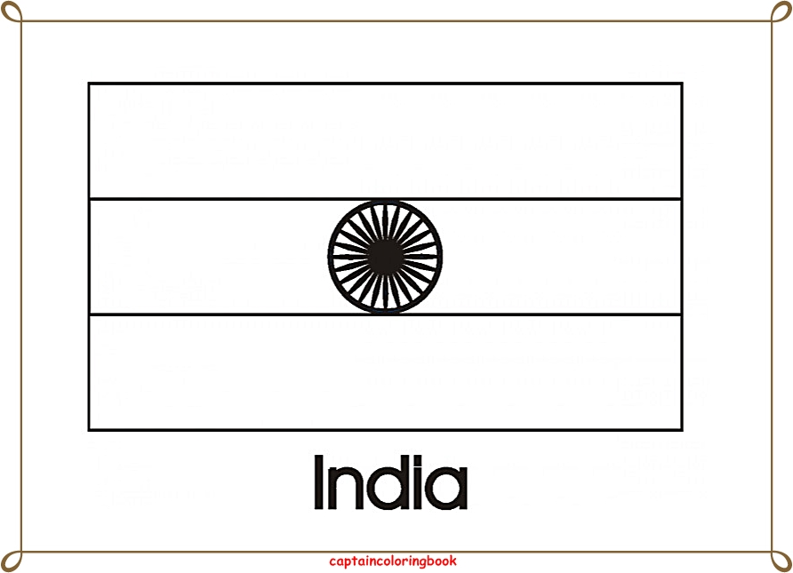Indian Flag Coloring Page: Country And World Flags Coloring Pages