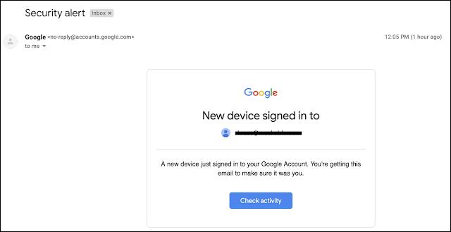 الجيميل يرسل إشعارات عن طريق الخطأ إلى المستخدمين بأن أحدهم تمكن من تسجيل الدخول إلى حساباتهم
