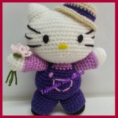 Kitty granjera amigurumi