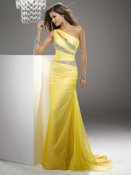 vestido de moda amarillo