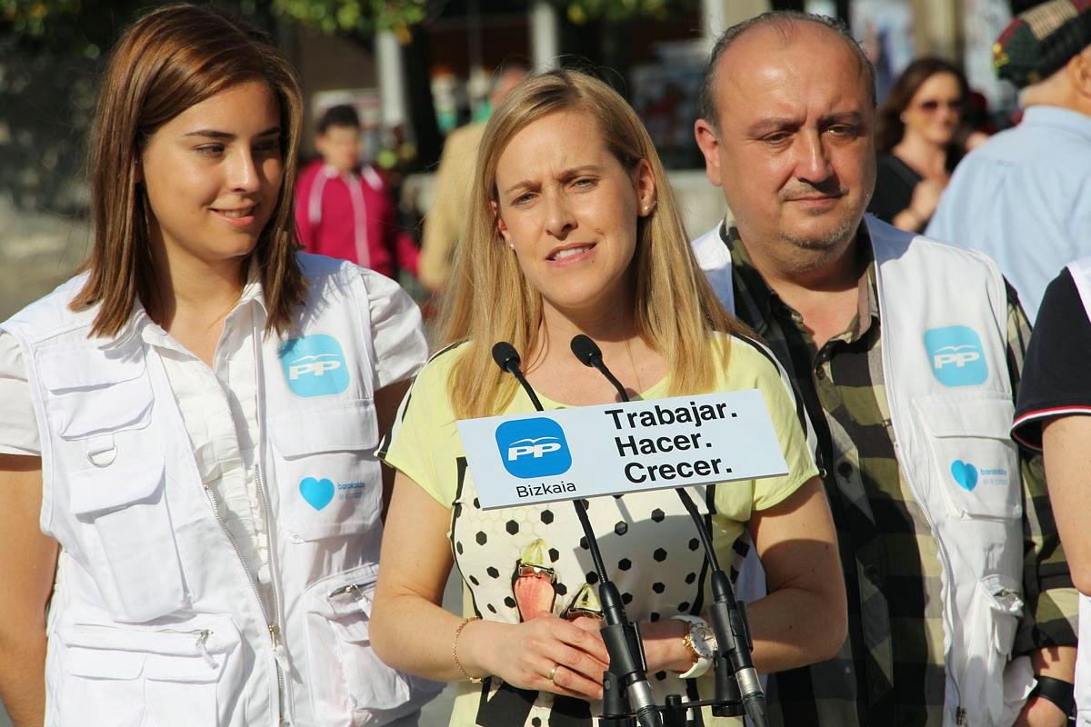 Amaya Fernández, en un acto de campaña electoral